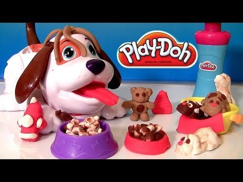 Play Doh Puppies Playset With Kibble Kranker by Hasbro Toys Cute Puppy Clay Toy Review 2014 NEW