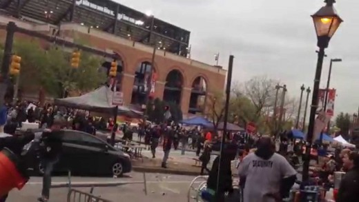 Baltimore Freddie Gray Rioting at Camden Yards 4/25/15