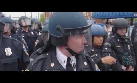 Baltimore Protest Footage: Riot Police Presence Incites Pete To Demand For Justice