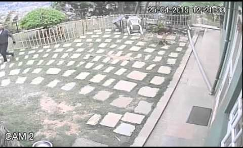 CCTV Catches Violence of Nepalese Earthquake Part 2