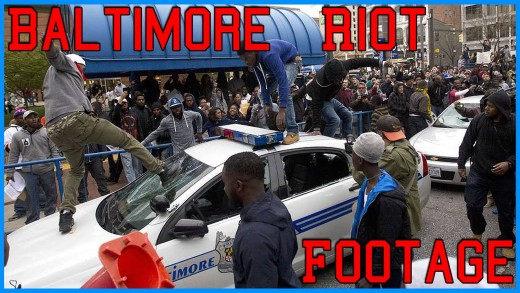 Craziest Baltimore Riot Footage – Freddie Gray Protesters Go Violent