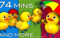 Five Little Ducks | Plus Lots More Children's Songs | 74 Minutes Compilation from LittleBabyBum!