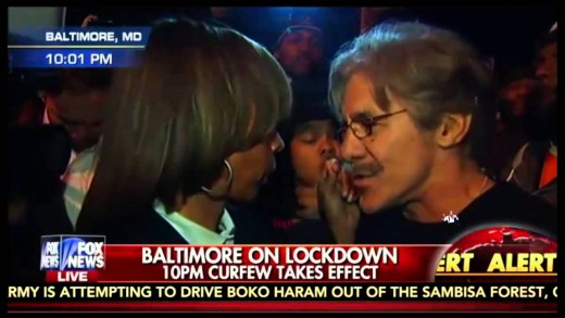 Geraldo Nearly Comes to Blows with Baltimore Protester