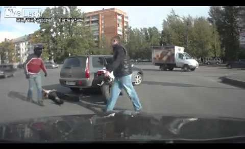 Hilarious Road Rage Fight – Russia