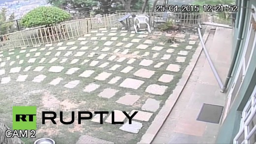 Nepal: Deadly Kathmandu earthquake as seen by CCTV