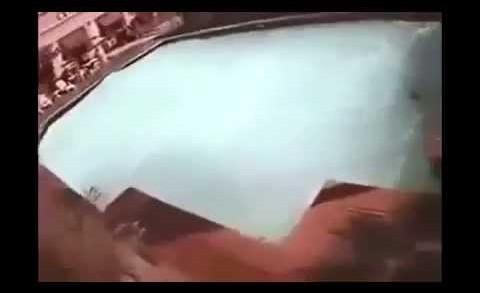 Nepal Earthquake 2015   CCTV Footage of Swimming Pool