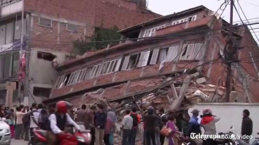 Nepal earthquake: buildings destroyed and injured treated