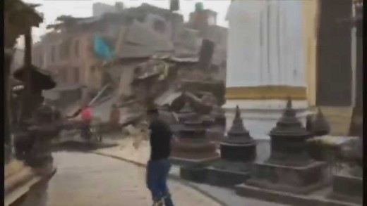 Original footage 7.9 Magnitude MEGA earthquake in Nepal | April 25th 2015 | The Black day