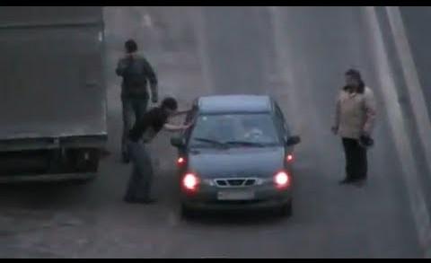 road rage attack in russia