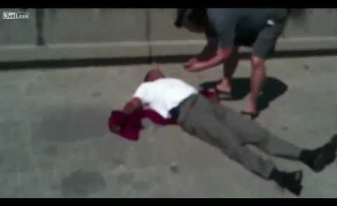 Road rage beating Black Guy vs Mexicans Los Angeles Freeway California downtown fighting fight chp