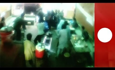 Shocking CCTV footage: Moment earthquake hits Nepal restaurant