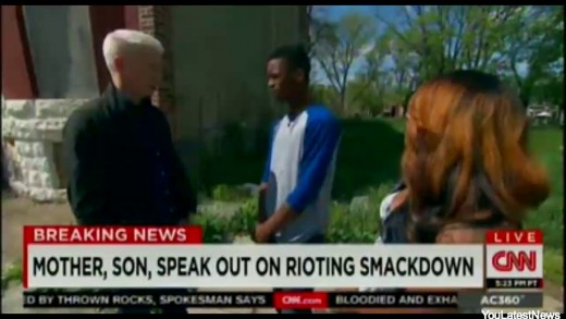 Toya Gragam, Baltimore Mom and Son Michael Singleton Interviewed By CNN Anderson Cooper |FULL VIDEO