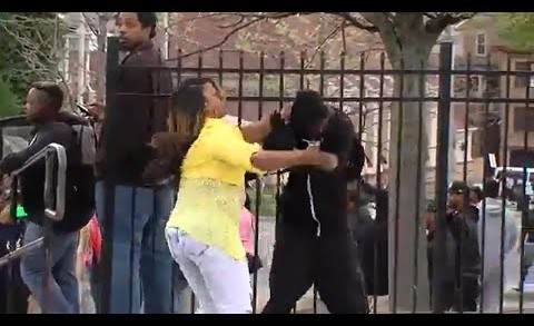 """When Your Mom Finds Out You're Rioting in Baltimore, and Beats You on National TV """"Mom of the Year"""""""
