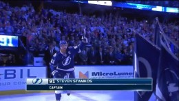 2014 Tampa Bay Lightning Home Opener. Player Introductions. October 9th 2014. (HD)