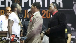 Adrien Broner almost fights Shawn's Porter dad! Heated confrontation! Complete Video