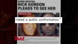 Bobby Brown's Wife — Praying for Bobbi Kristina … Nick Gordon Pleads to See Her