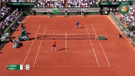 Djokovic Incredible Serve & Half Volley vs Nadal | Quarterfinals Roland Garros 2015