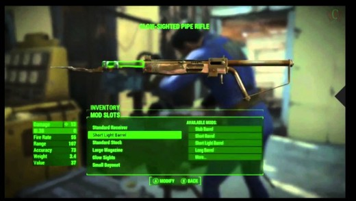 E3 2015: Fallout 4 Weapon Mod / Modified Armor Customization Walkthrough E3 2015