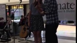 Ed Sheeran surprises young singer with West Edmonton Mall duet