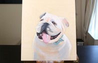 Fathers Day Painting – Bulldog