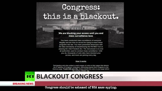 Fighting back: Sites block Congressional access to protest US Patriot Act