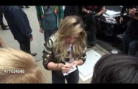 "Hilary Duff leaving the ""Good Morning America"" Show – Signs and Poses"