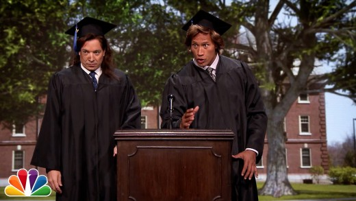 Jimmy Fallon and Dwayne Johnson's 1989 Commencement Speech
