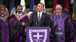 President Obama sings Amazing Grace (C-SPAN)