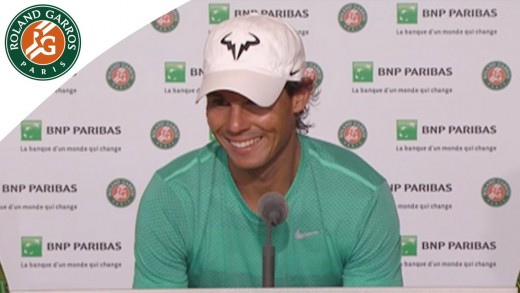Press conference Rafael Nadal 2015 French Open / 4th Round