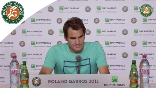 Press conference Roger Federer 2015 French Open / R64