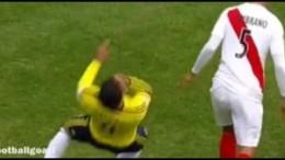 Radamel Falcao Worst Dive Ever ? Colombia vs Peru Copa América 2015