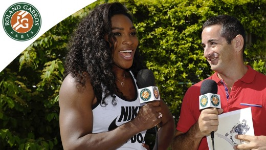 Roland-Garros shopping network with Serena Williams / 2015 French Open