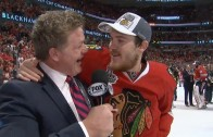 Shaw can't hold back F-bombs after Stanley Cup win