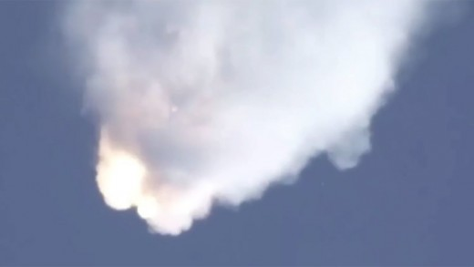 SpaceX Falcon 9 Explosion June 2015 (close-up & slow motion)