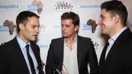 Taylor Kitsch & Rob Thomas at the African Children's Choir ChangeMakers Gala #InTheLab