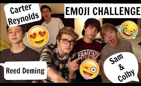 THE EMOJI CHALLENGE | Ft. Carter Reynolds, Reed Deming, Trevor Moran, Sam&Colby