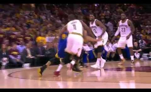 Timofey Mozgov Blocks Stephen Curry   Warriors vs Cavaliers   Game 6   June 16, 2015   NBA Finals