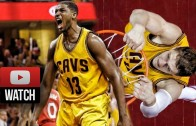 Timofey Mozgov & Tristan Thompson Full G4 ECF Highlights vs Hawks (2015.05.26) – 30 Pts, 18 Reb!