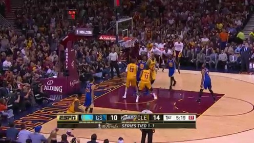Timofey Mozgov vs GSW. Final, Game 3. 9.06.2015