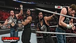 WWE Elimination Chamber 2015 – Dean Ambrose Wins WWE Title & Reigns Turn Heel!