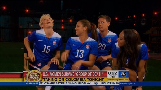 Alex Morgan, Abby Wambach, Sydney Leroux, & Rapinoe GMA Interview | LIVE 6-22-15