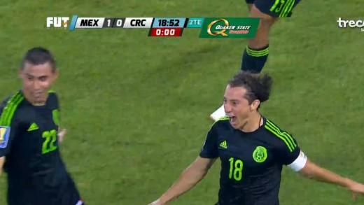 Andres Guardado Gol Goal Mexico vs Costa Rica 2015 1-0 RESUMEN Y GOL