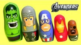 Avengers Stacking Cups Surprise Toys Disney Captain America, Hulk, Iron Man Marvel Nesting Dolls