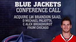 Brandon Saad Trade Teleconference (7/1/15)