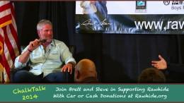 Brett Favre & Steve Young at 2014 Chalk Talk Rawhide Fundraiser