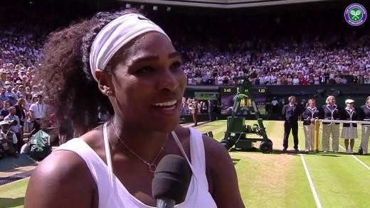 Champion Serena Williams' on-court interview