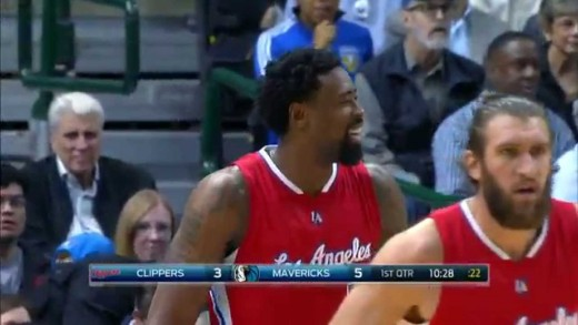 DeAndre Jordan Scores 1st Career Three Pointer