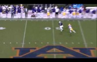 "D'haquille ""Duke"" Williams makes an incredible diving catch against LSU."