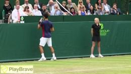 Djokovic & Dimitrov impersonate Maria Sharapova at The Boodles 2013
