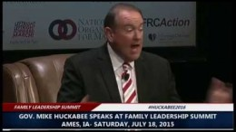 Gov. Mike Huckabee Full Appearance at 2015 Family Leadership Summit (7-18-15)